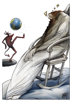 Climate Change Why Has Thou Forsaken Us? by Angel Boligan