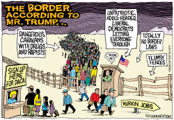 The Border According to Trump by Wolverton