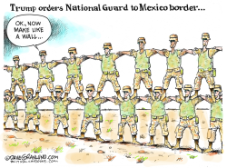 National Guard to Mexican border by Dave Granlund