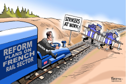 Macron's rail reform by Paresh Nath