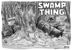 Scott Pruitt is the EPA Swamp Thing by RJ Matson