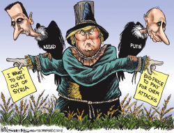 Trump brainy Syria Policy by Kevin Siers