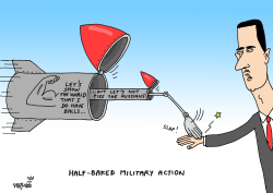 Half-baked military action by Stephane Peray
