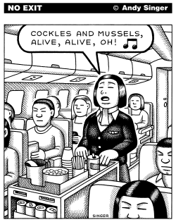 Cockles and Mussels Flight Attendant by Andy Singer
