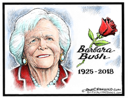 Barbara Bush tribute by Dave Granlund
