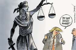 Trump and justice by Patrick Chappatte
