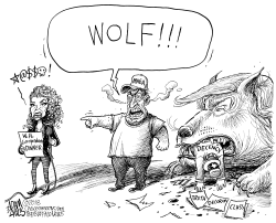 Crying Wolf by Adam Zyglis