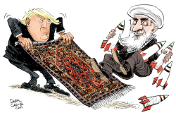 Trump Pulls Out of Iran Deal by Daryl Cagle