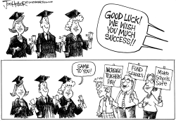 Grads and Teachers by Joe Heller