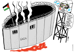 Gaza protests by Schot