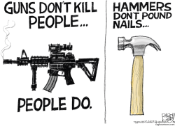 Guns and Hammers by Pat Bagley