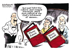 Mario Batali sex assault charges color by Jimmy Margulies