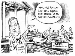 NFL on-field protest rule by Dave Granlund