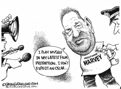 Harvey Weinstein arrested by Dave Granlund