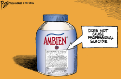 Bruce Plante Cartoon Roseanne and Ambein by Bruce Plante