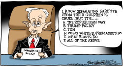 Immigration Policy by Bob Englehart