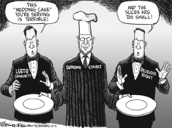Gay Wedding Cake by Kevin Siers