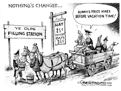 Vacations and fuel costs by Dave Granlund