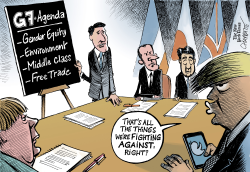 G-7 summit in Canada by Patrick Chappatte