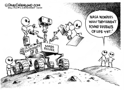 NASA search for life on Mars by Dave Granlund