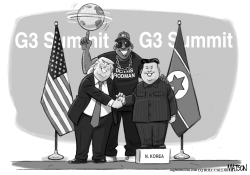 Trump Rodman Kim Jong un Summit by RJ Matson