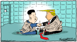 Kim and trump by Bob Englehart