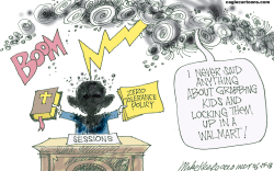 Zero Tolerance Policy by Mike Keefe