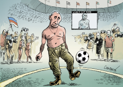 Soccer star Putin by Patrick Chappatte