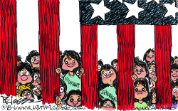 Migrant children by Milt Priggee