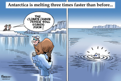Antarctica melting faster by Paresh Nath