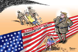 Trump immigration policy by Paresh Nath