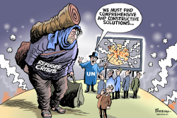 World refugee crisis by Paresh Nath