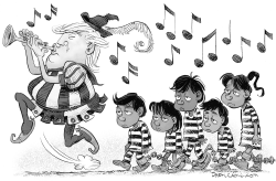 Pied Piper Trump and Infestation by Daryl Cagle