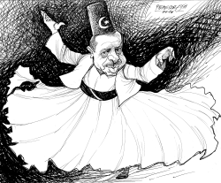 Dervish dance Erdogan by Petar Pismestrovic