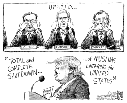 Travel Ban by Adam Zyglis