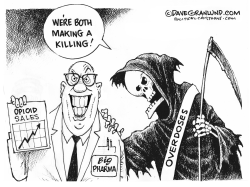 Big Pharma and opioid deaths by Dave Granlund