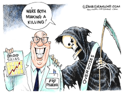Pharma and opioid deaths by Dave Granlund