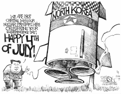 North Korea's 4th of July by John Darkow