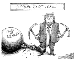 Kavanaugh and Gorsuch by Adam Zyglis