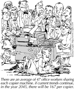 TRUE BUSINESS Share the Copier Machine by Daryl Cagle