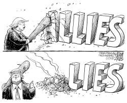 Bashing our Allies by Adam Zyglis