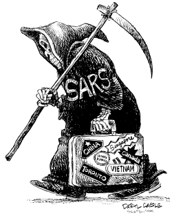SARS Travels by Daryl Cagle