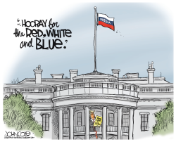 The new red white and blue by John Cole