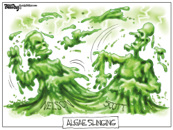Algae Slinging FLORIDA by Bill Day