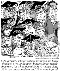 TRUE College Drunks by Daryl Cagle