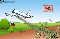 Trump the Crop Duster by Bruce Plante