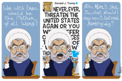 Rouhani VS Trump by Jose Neves