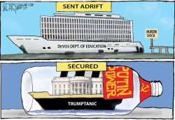 DeVos and Trump boats by Jeff Darcy