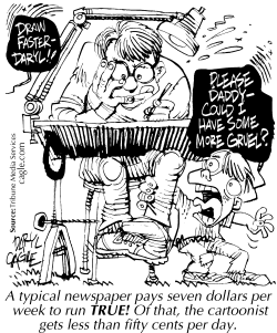 TRUE - Daryl Works Hard and Cheap by Daryl Cagle