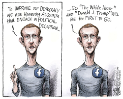 Facebook purge by Adam Zyglis